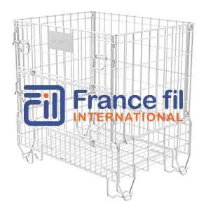 Waste recycling wire mesh container