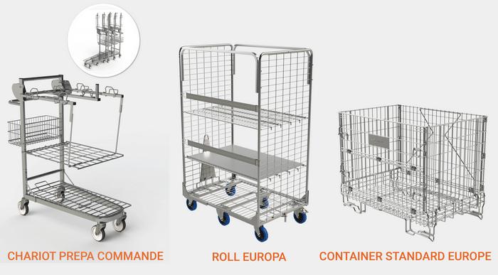 Découvrez notre gamme de Roll et Containers avec des solutions adaptées à la préparation de commande