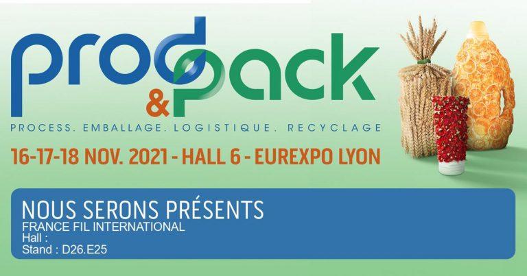 Retrouvez-nous sur le salon Prod&Pack, du 16 au 18 Novembre